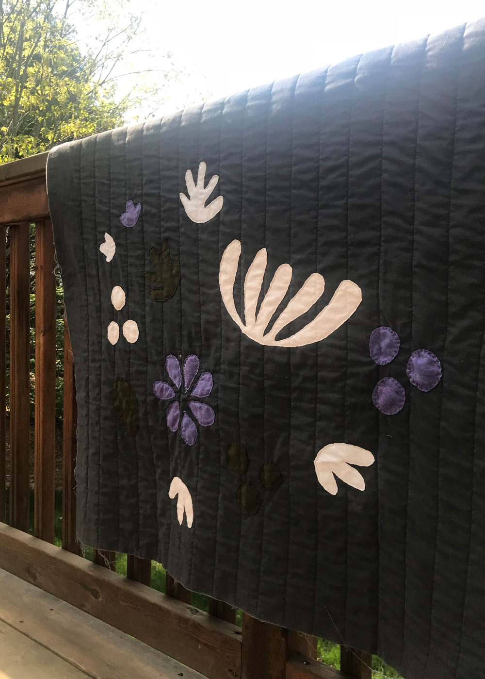 Black and White Boho Quilt