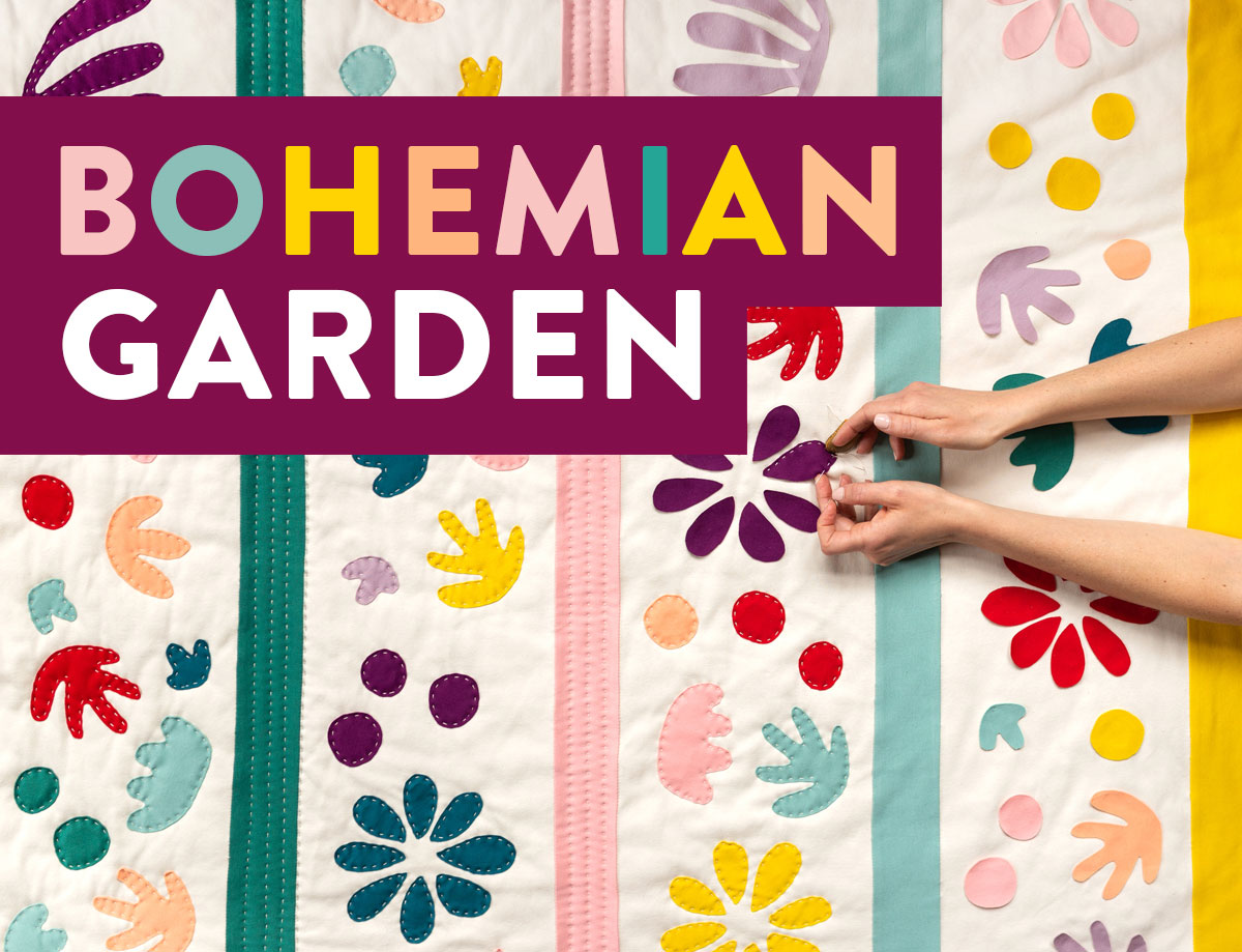 Bohemian Garden Quilt Pattern by Suzy Quilts