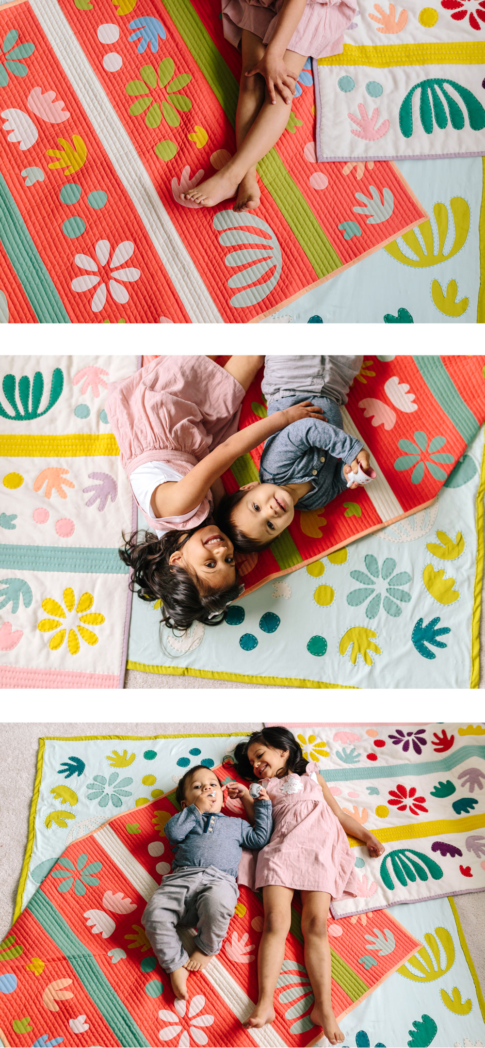 Style your nursery or playroom with a bright boho quilt that you can make yourself! The Bohemian Garden quilt pattern download is now available and includes a video tutorial!