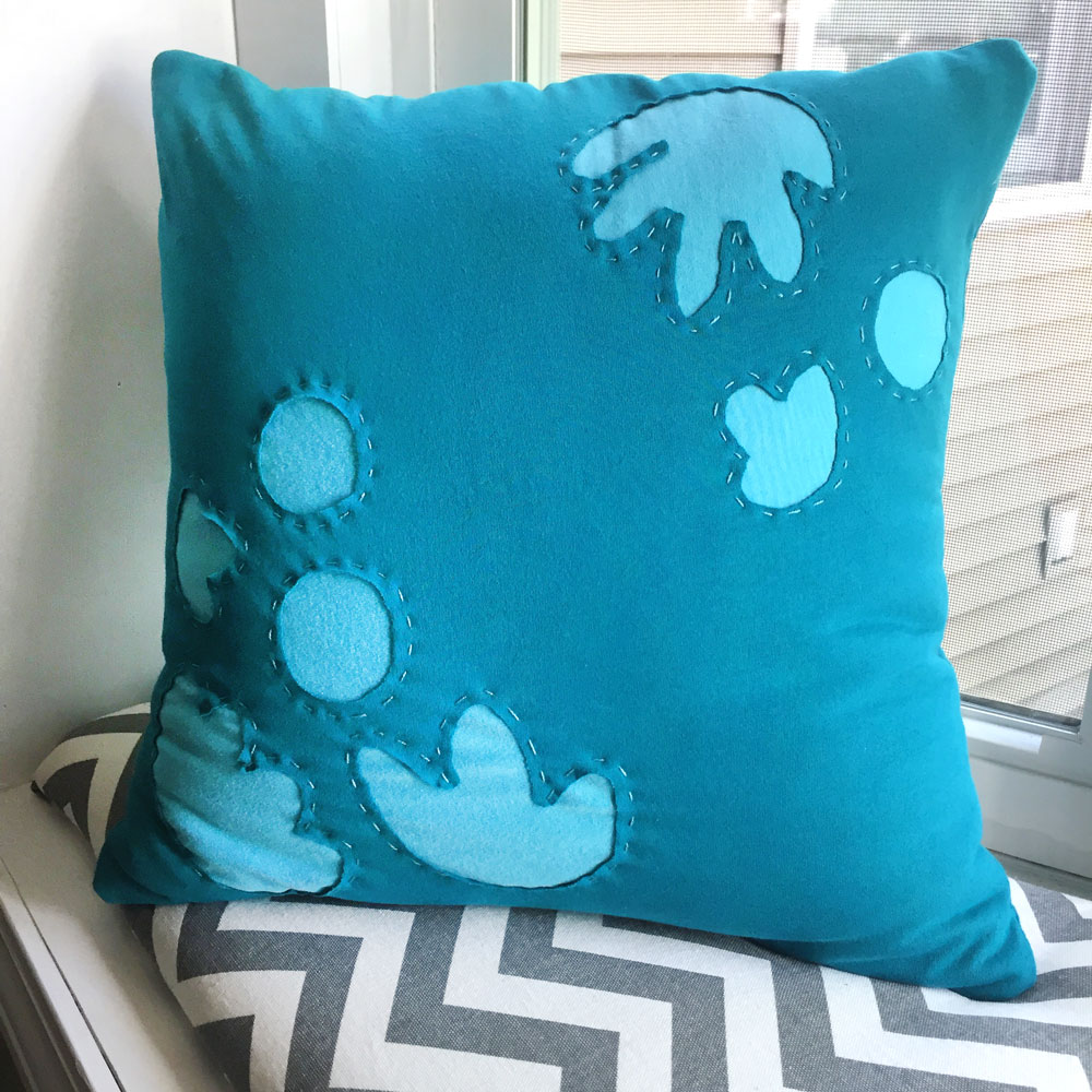 Reverse Applique Pillow Pattern