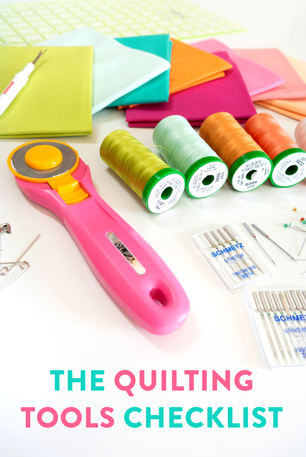 The best checklist for all of your sewing must-have tools. | Suzy Quilts https://suzyquilts.com/must-have-quilting-tools