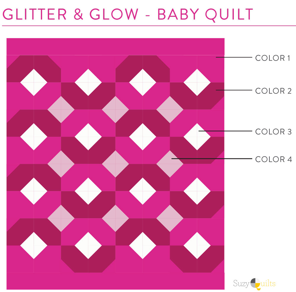 Picking fabrics for the Glitter & Glow quilt pattern