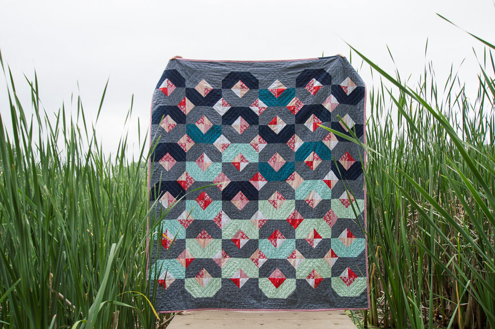 The Glitter and Glow quilt pattern is beginner friendly and also works well with fat quarters and scraps!