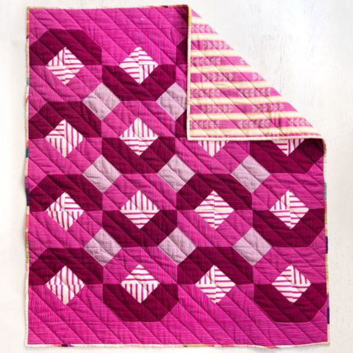 The Glitter & Glow Quilt Pattern Download is a great pattern for using up scraps or fat quarters. It comes in king, queen, twin, throw and baby quilt sizes.