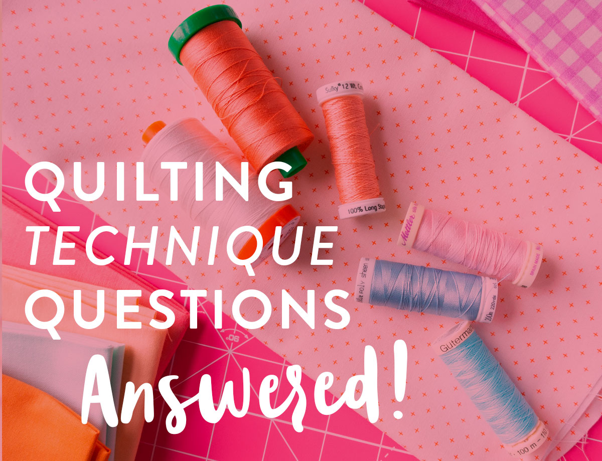 All of your commonly asked quilting technique questions on cutting, sewing, and ironing are answered in this multi-part blog series!