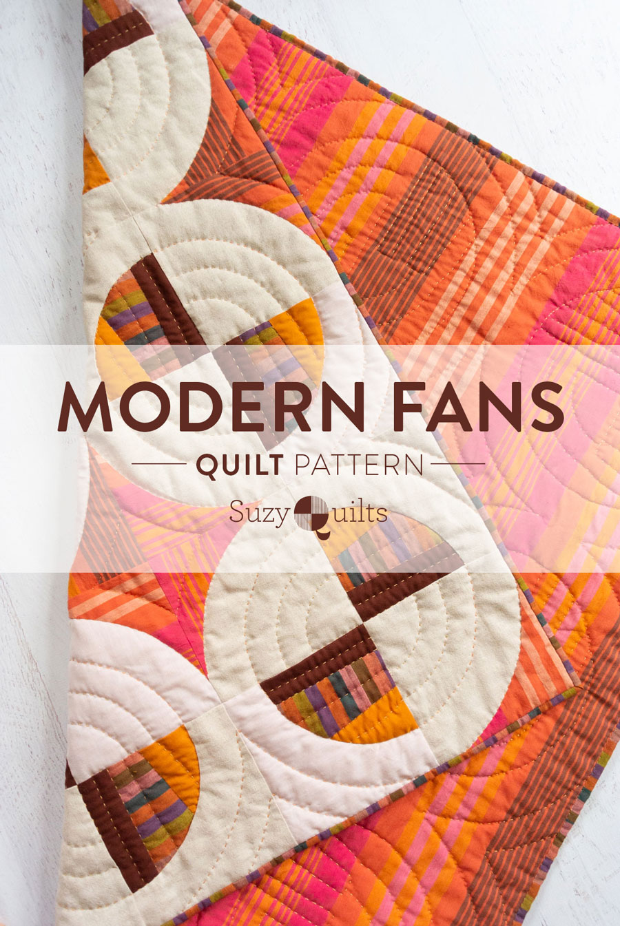 How to sew curves tutorial - Suzy Quilts | Modern Fans is a bold, contemporary quilt pattern that includes king, queen, twin, throw and baby quilt sizes as well as a video tutorial!