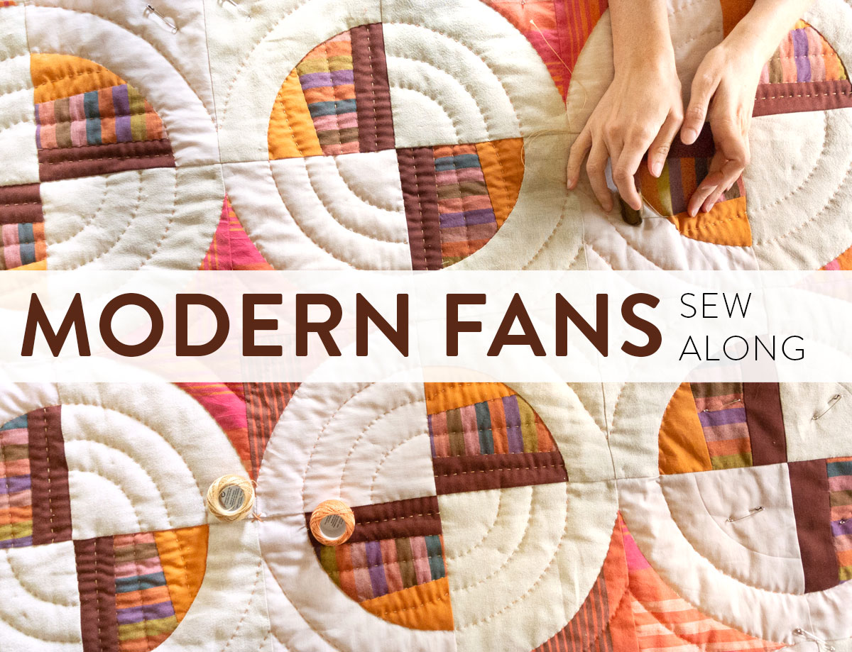 Join in on the fun and learn to sew curves with this Modern Fans quilt pattern Sew-Along!
