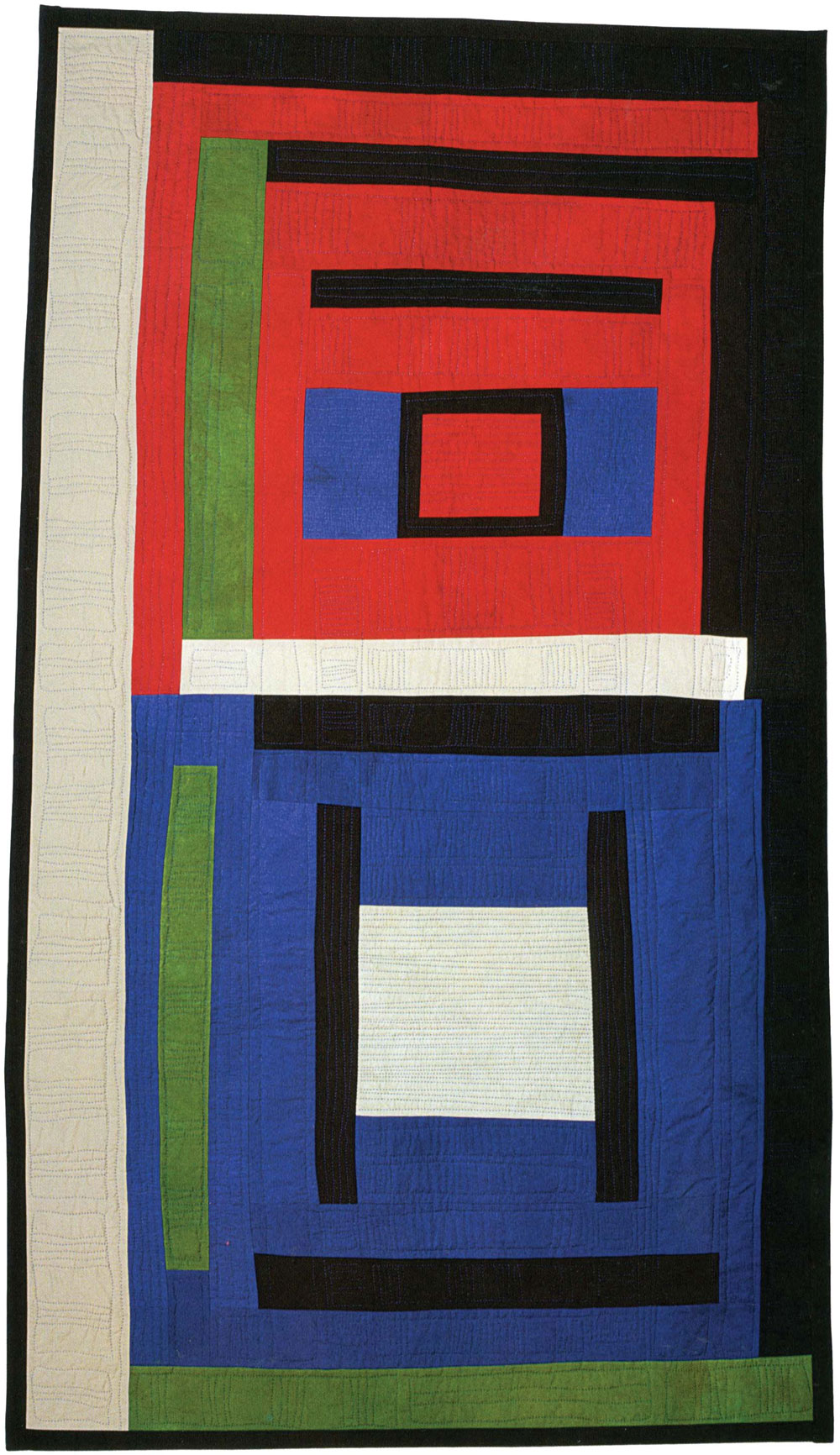Nancy Crow is a modern quilt pioneer who has inspired generations of artists with her creativity. This quilt is #15 from her Constructions series.