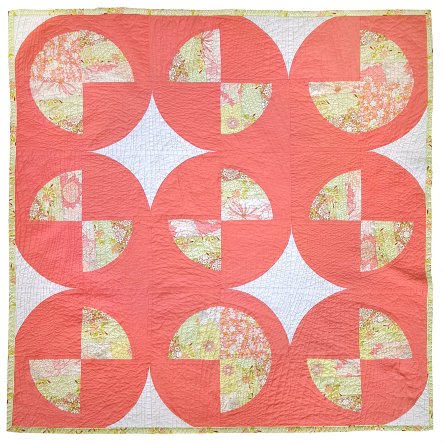 Modern Fans is a bold, contemporary quilt pattern that includes king, queen, twin, throw and baby quilt sizes as well as a video tutorial!