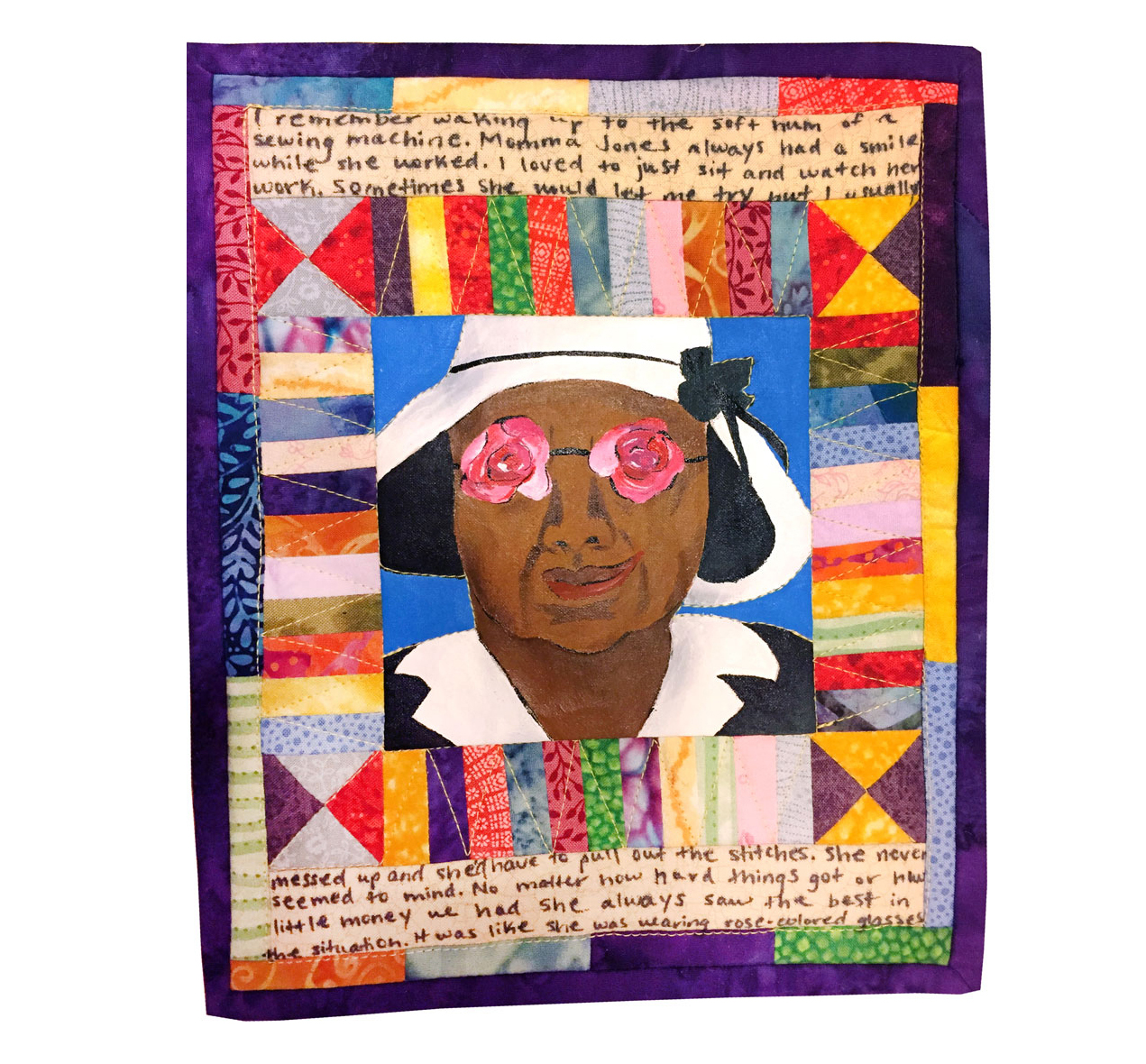 Faith Ringgold is an accomplished painter, writer, professor and quilter. By combining all of these things, she tells stories through painting in her quilts.