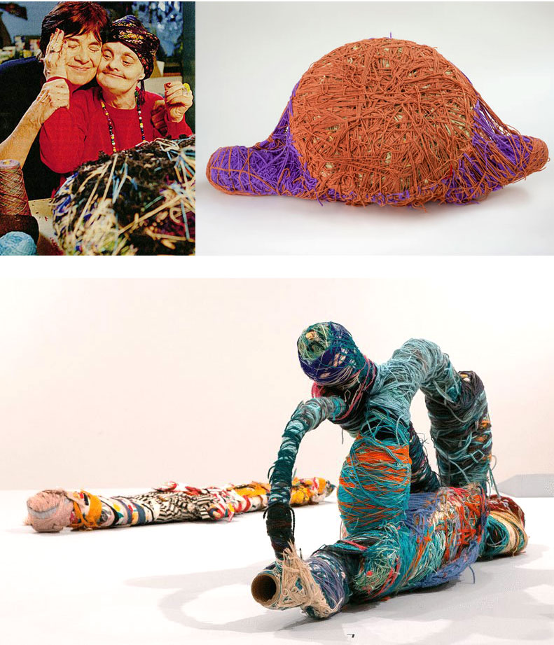 Judith Scott was a fiber artist who overcame immense obstacles throughout her life, only to be made stronger and more creatively-driven by them. She designed and made mixed media sculptures now seen all over the world. | Suzy Quilts https://suzyquilts.com/meet-a-fabulous-fiber-artist-judith-scott