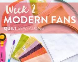 Modern Fans Quilt Sew-Along: Week 2
