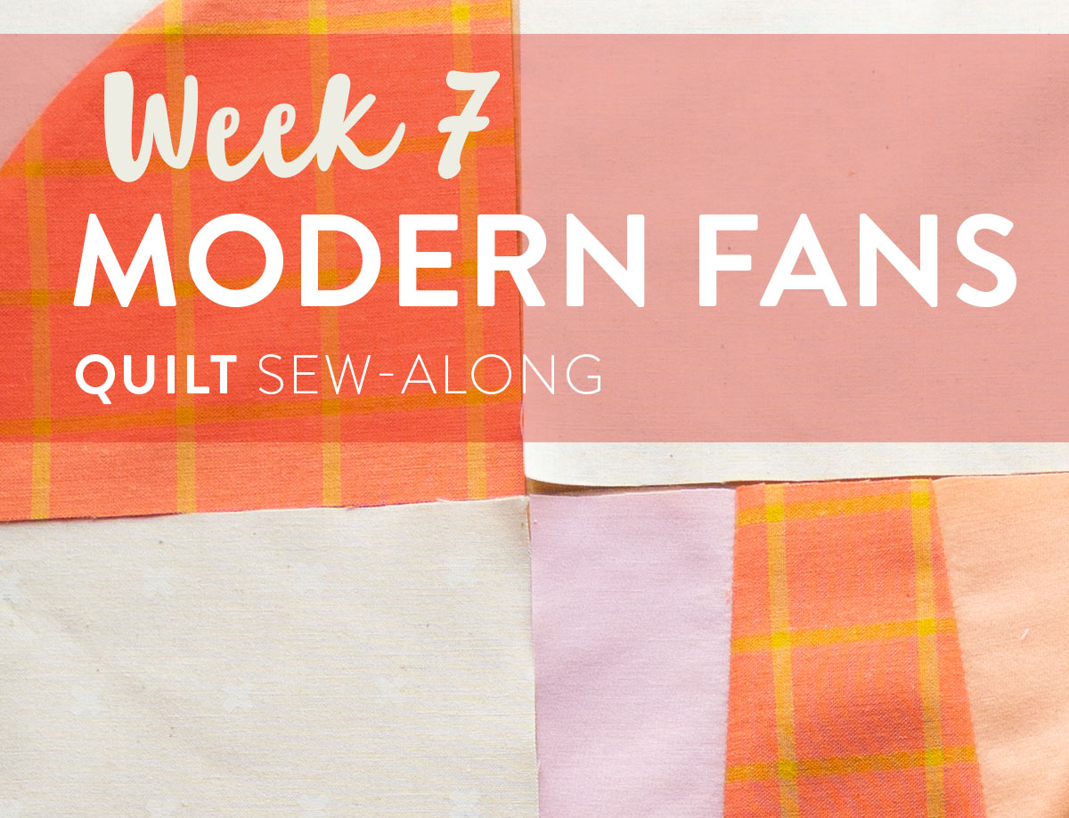Join the Modern Fans quilt pattern sew-along for a chance to win a BERNINA 350 sewing machine along with other amazing prizes! Included are lots of video tutorials and support to help you learn to sew curves.