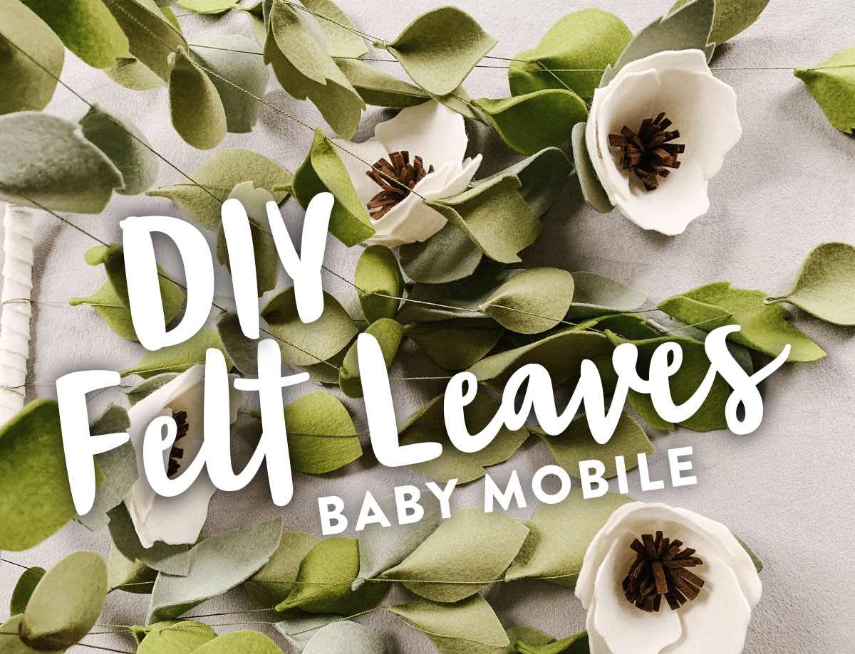 Make this free DIY felt leaves baby mobile for your nursery. It's a beautiful and sophisticated gender neutral decoration
