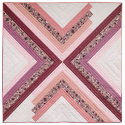 The Sugar POP quilt pattern is a PDF download that includes throw, baby and a pillow size. This modern design works well as a gradient or with fabric scraps.
