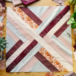 The Maypole pillow extension pattern includes fabric requirements and instructions for an 18 inch square pillow. A beautiful modern design that looks great in any room!
