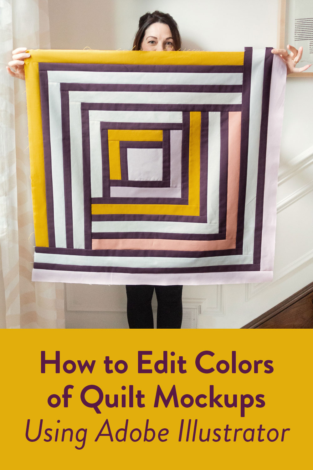 If you are a planner, or maybe have trouble picking fabrics for a quilt, check out this video tutorial showing you how to edit digital quilt mockups to test out various colors and swatches. This is an Adobe Illustrator tutorial.