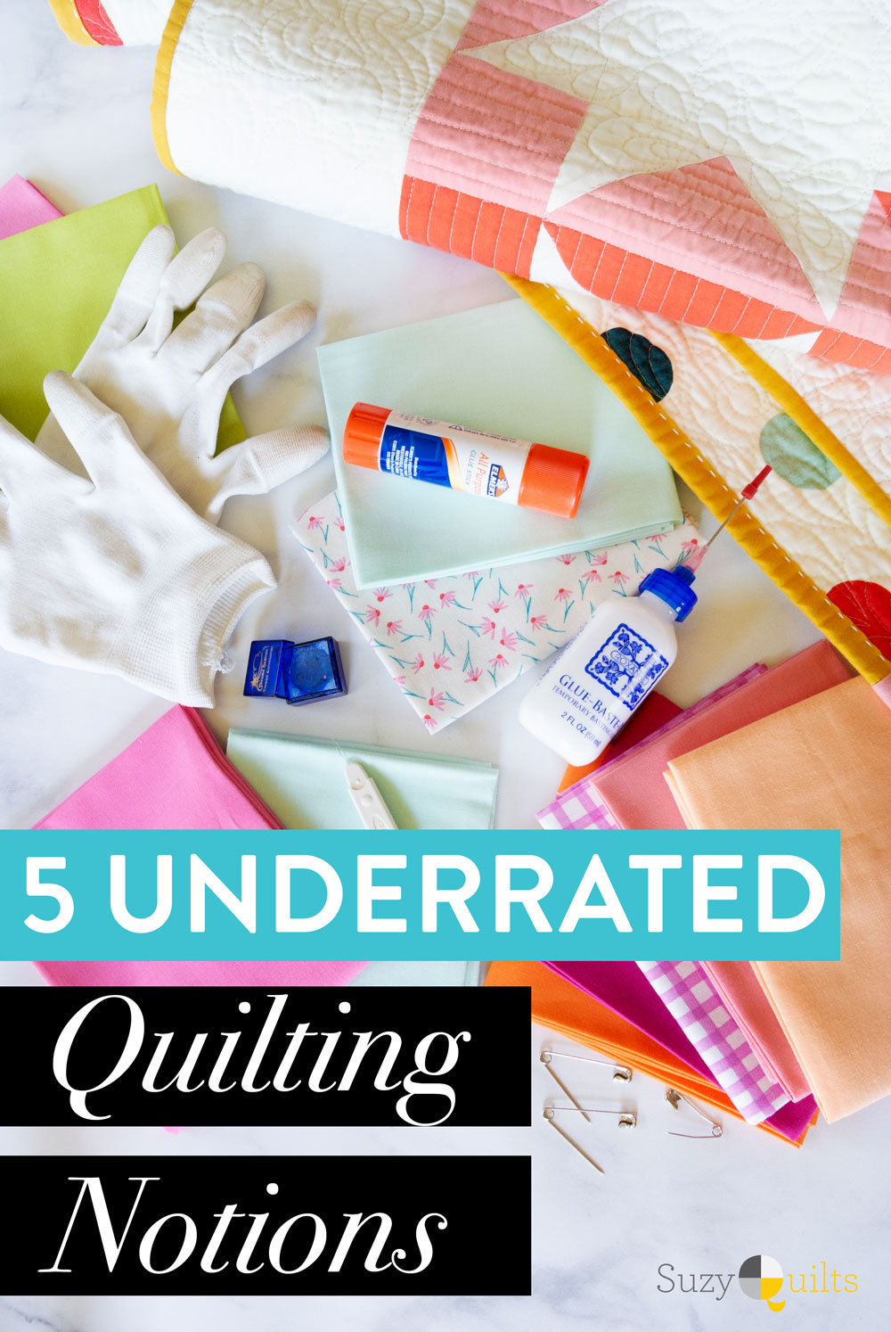 The 5 best underrated quilting notions that should be in every sewing room. These are great for gift giving or adding to your own sewing studio!