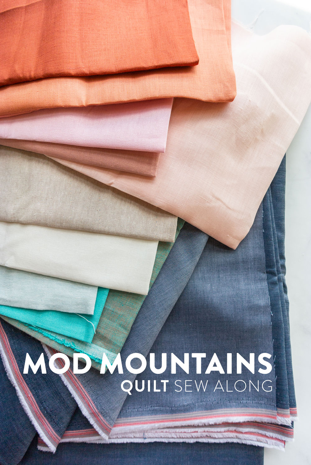 Join the Mod Mountains quilt pattern sew along! Learn new quilting skills and win weekly prizes as an online sewing community. Together we cover sewing with linen and different kinds of fabric, cutting with templates and sewing triangles. | Suzy Quilts