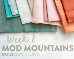 Mod Mountains Quilt Sew Along: Week 2