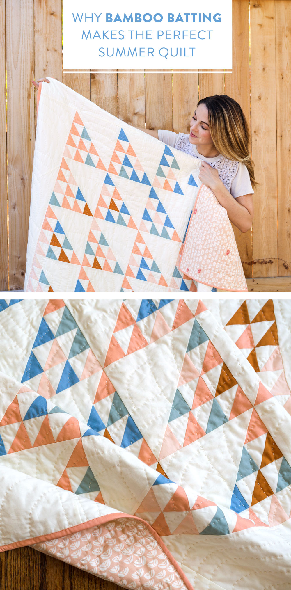 Bamboo batting is the perfect summer quilt batting! It's lightweight, strong, breathable and has a beautifully soft drape.