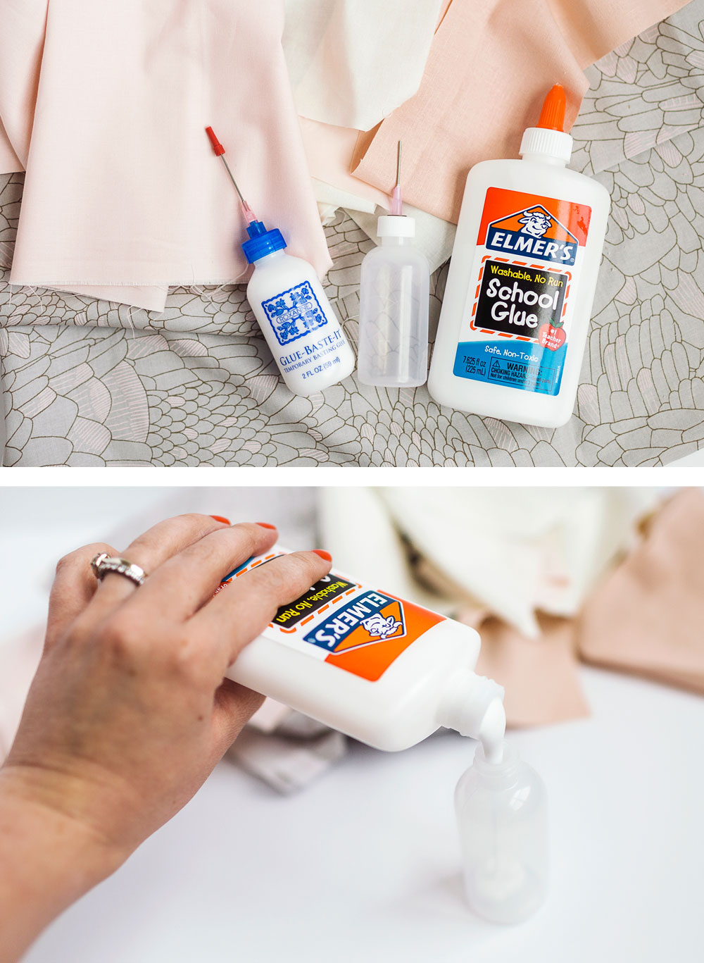 A complete tutorial on how glue basting seams will create accurate quilting and quilt pieces. Step by step instructions with photos showing you how easy glue basting can be.