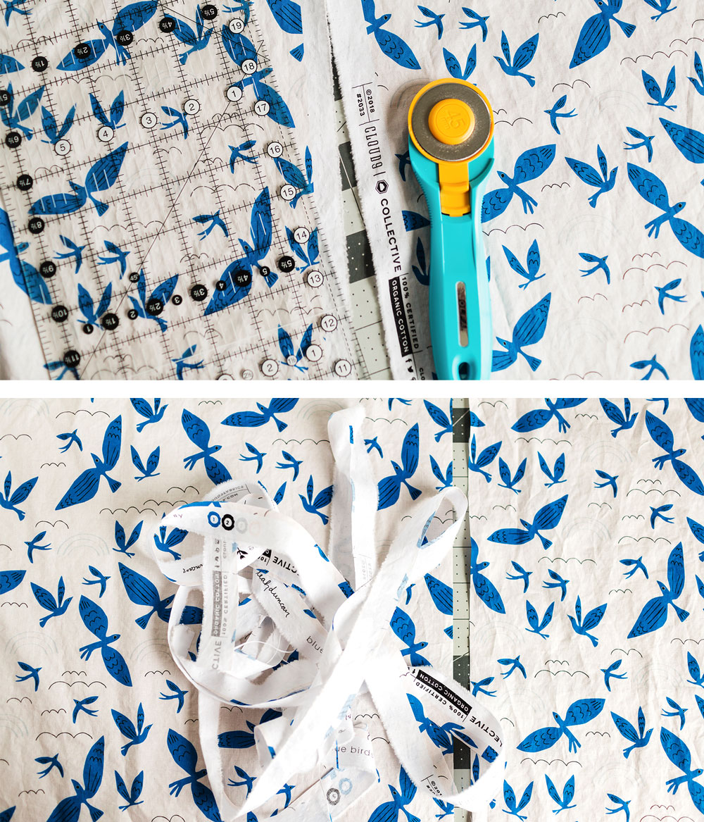 A complete step by step photo tutorial on how to match a print seamlessly along your quilt back seam using a washable glue stick. Beginner friendly!