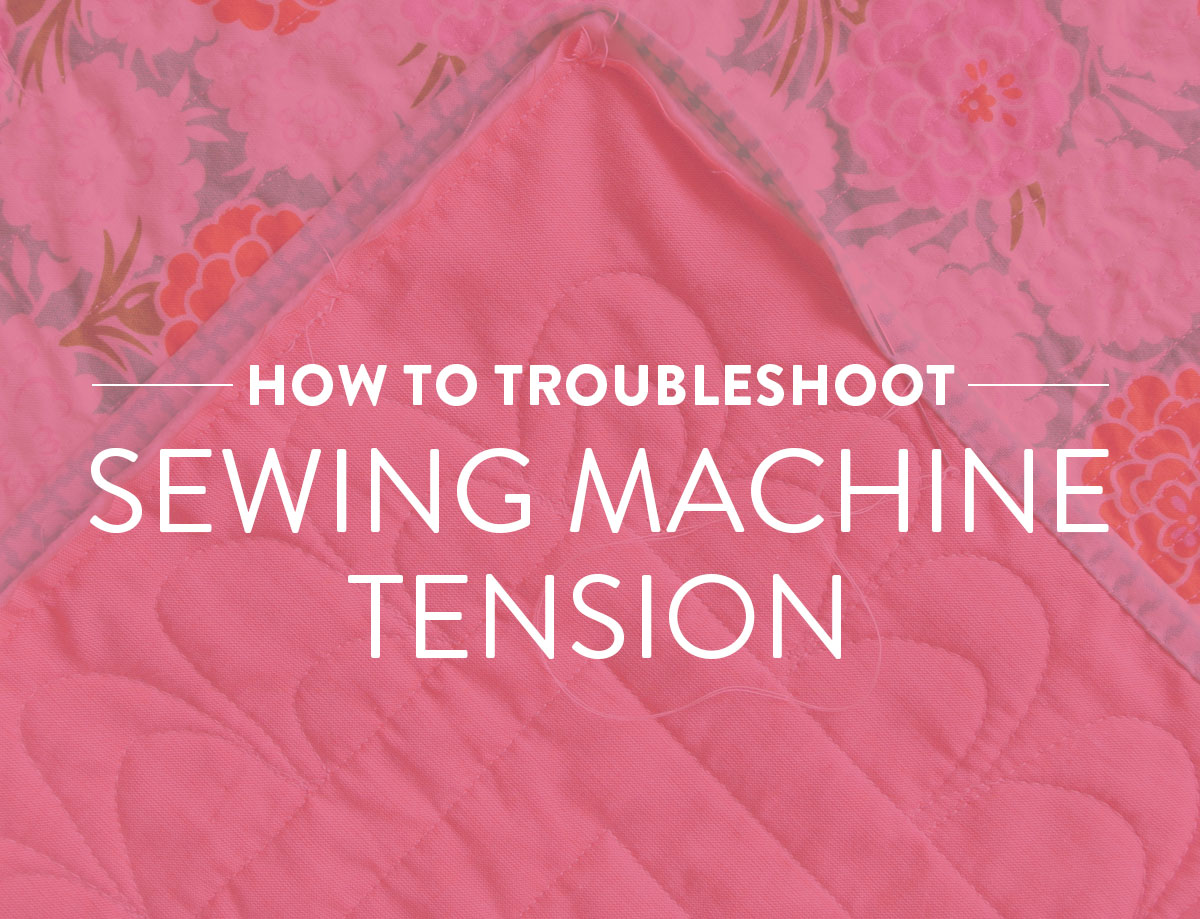 How to troubleshoot sewing machine tension! Loose, tangled stitches are a problem and there IS a solution. Use this thread tension checklist to fix your sewing machine problems. suzyquilts.com