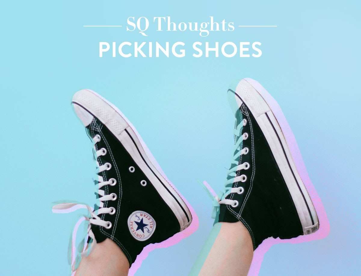 There's so much to think about when picking shoes! Let's walk through the process together | suzyquilts.com #shoes #funny