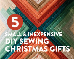 5 Small and Inexpensive DIY Sewing Christmas Gifts