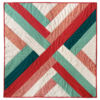 """The Maypole quilt wall hanging finishes at 30"""" x 30"""" and is the perfect, modern quilt design to warm up the walls of any room. Make one for each season!"""