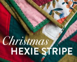 Christmas Quilting with the Hexie Stripe Pattern