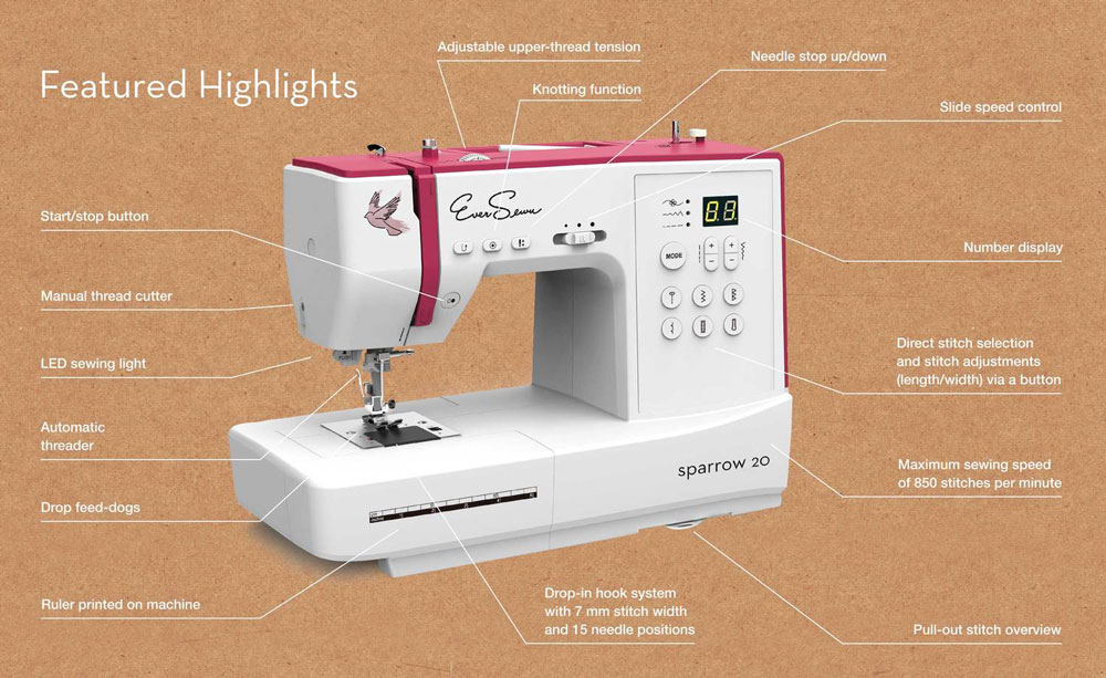 EverSewn Sparrow best sewing machine for kids