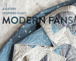 A Gatsby Inspired Modern Fans Quilt Kit