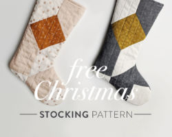 FREE Quilted Christmas Stocking Pattern