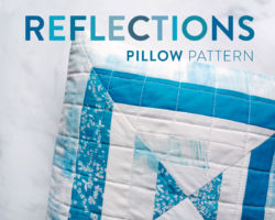 A Moody Blue Reflections Pillow