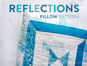 The Reflections pillow is a very fast project that is perfect for using scraps of fabric! This modern quilt pattern includes instructions for an 18-inch pillow and a 30-inch wall hanging.