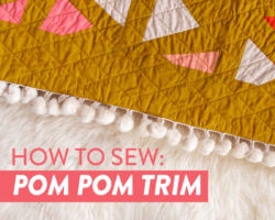 How to Sew Pom Pom Trim to a Quilt