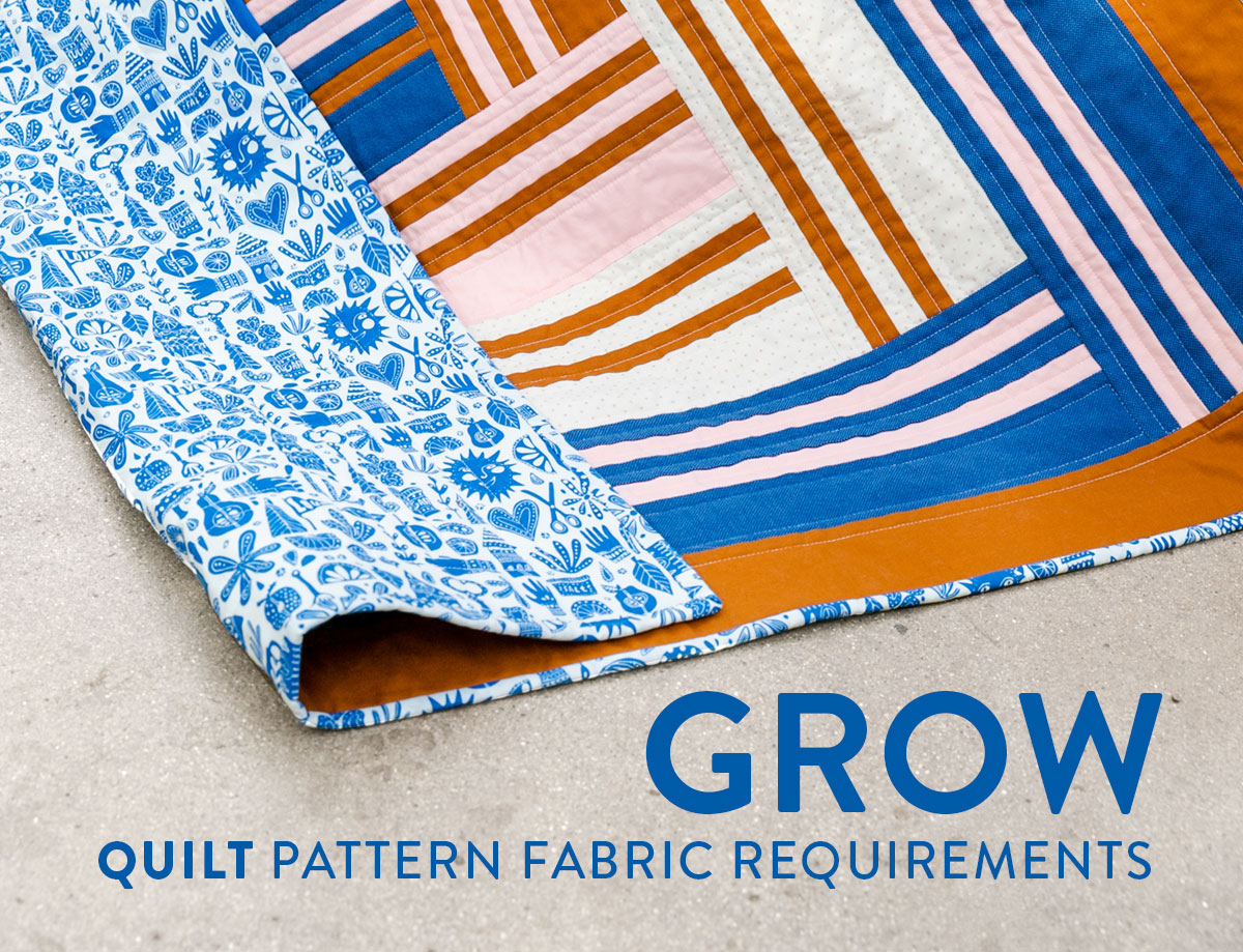 The Grow quilt pattern release March 12, 2020. It will include king, queen, twin, throw and baby quilt sizes. suzyquilts.com #modernquilt