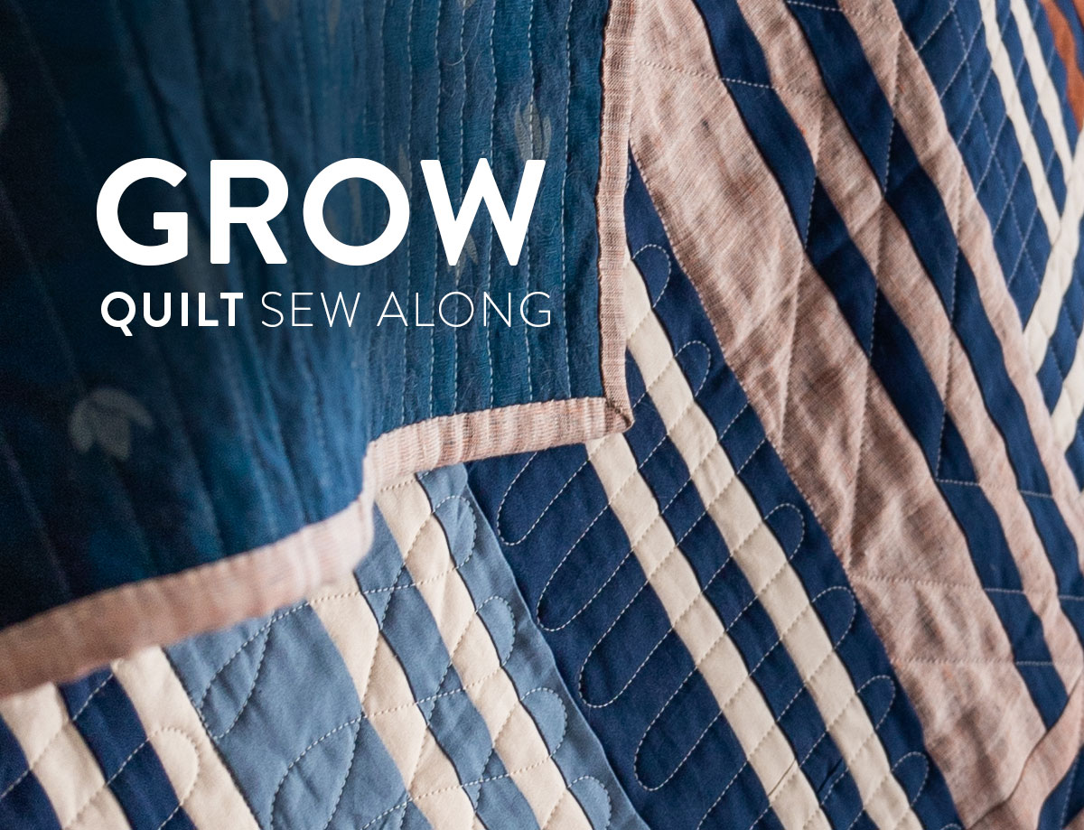Join a fun community sew along! It is easy to participate. All you need is the Grow quilt pattern and to post your weekly progress as we make this quilt together! suzyquilts.com #quiltalong #sewalong