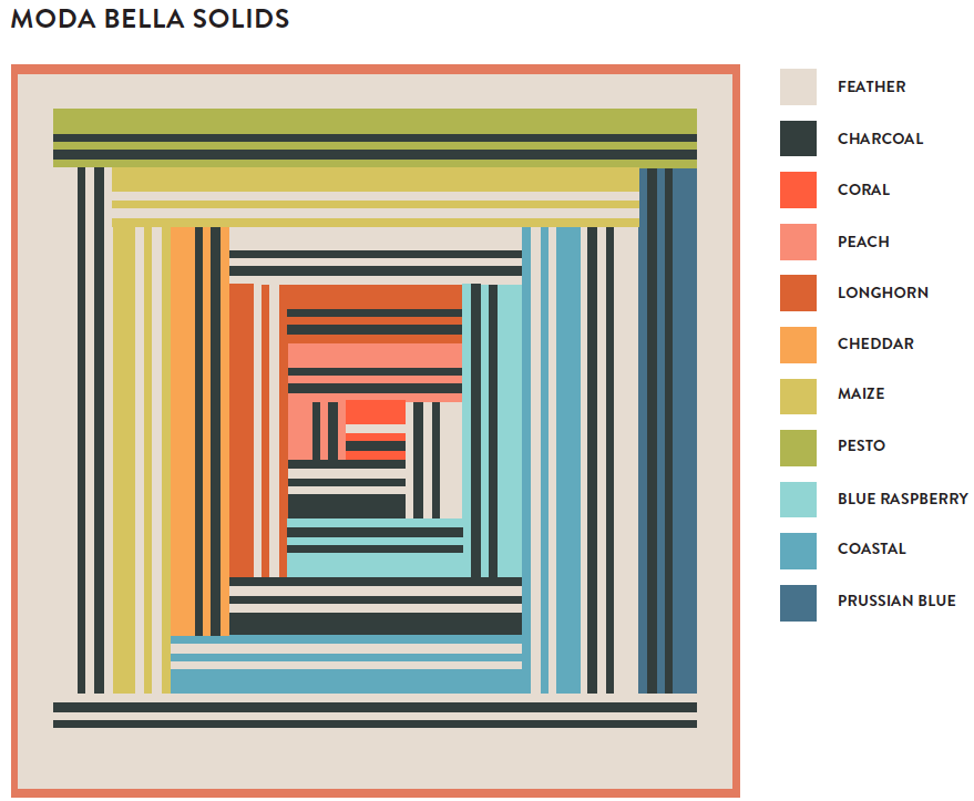 Modern Rainbow quilt pattern - suzyquilts.com #rainbowquilt