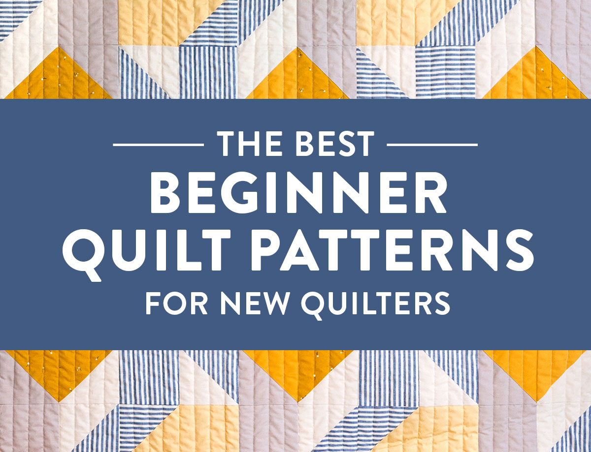 A list of 6 of the BEST beginner quilt patterns for new quilters! Jelly roll friendly, fat quarter friendly, scrap friendly – perfect for a newbie quilter. suzyquilts.com #quiltpattern #freequiltpattern