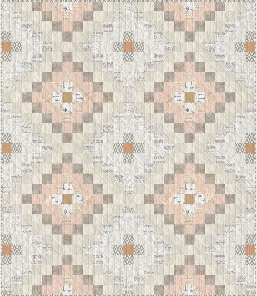 Get this Free Diamant Quilt Pattern! A beginner friendly quilt pattern made only from strip piecing. suzyquilts.com