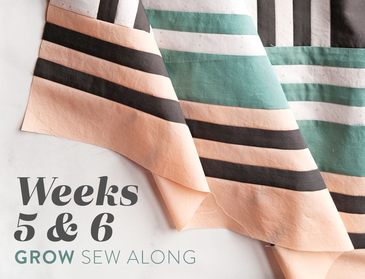 In Weeks 5 and 6 of the Grow quilt sew along we assemble the quilt. Check out this video tutorial to show you how! suzyquilts.com #quiltingtutorial #quiltpattern