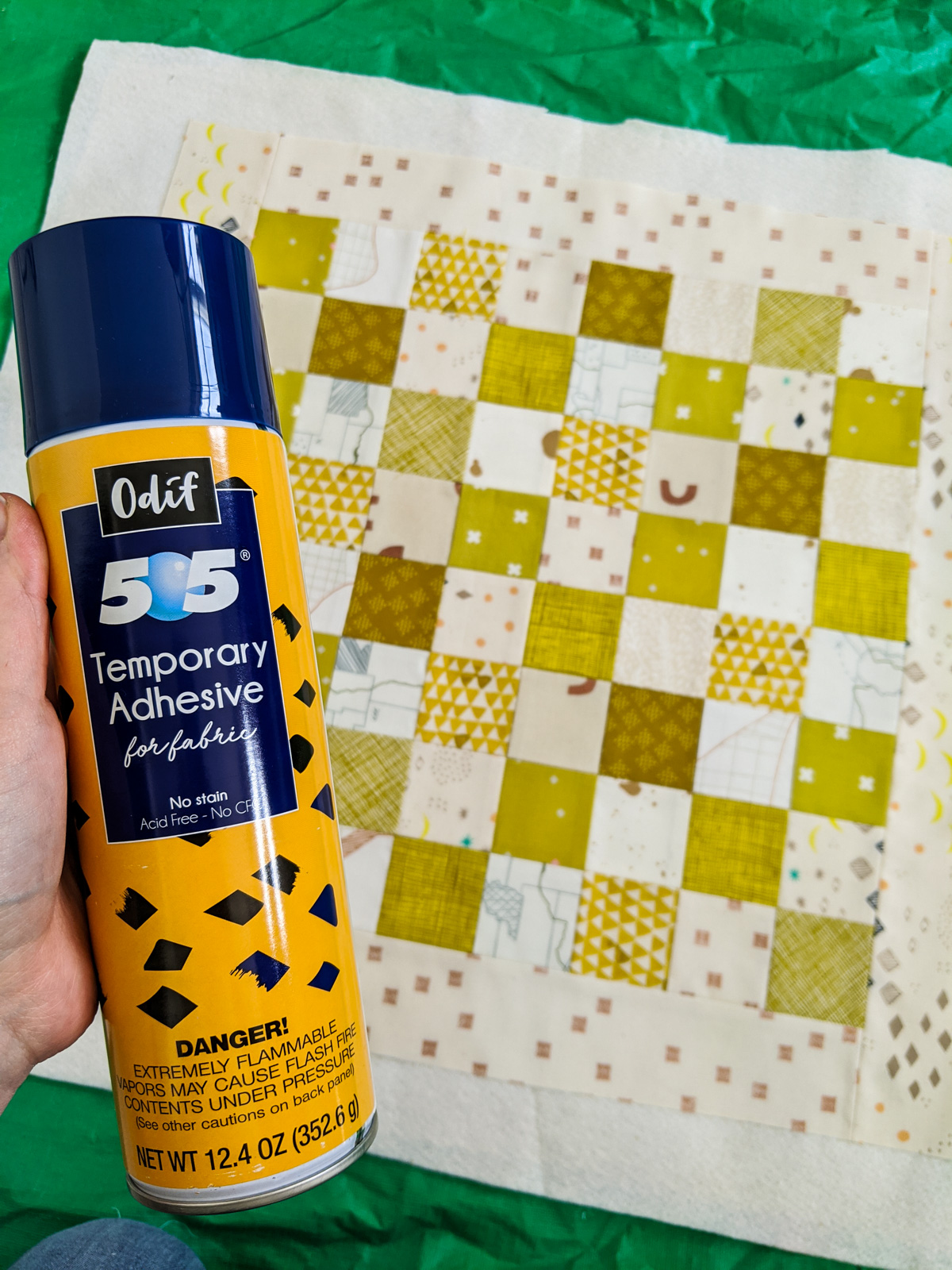 This DIY Quilted Checkerboard is the perfect project for any beginner looking to learn the basics of quilting in a fun, easy project!
