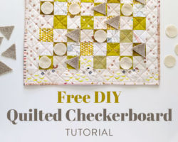 Free DIY Quilted Checkerboard Tutorial