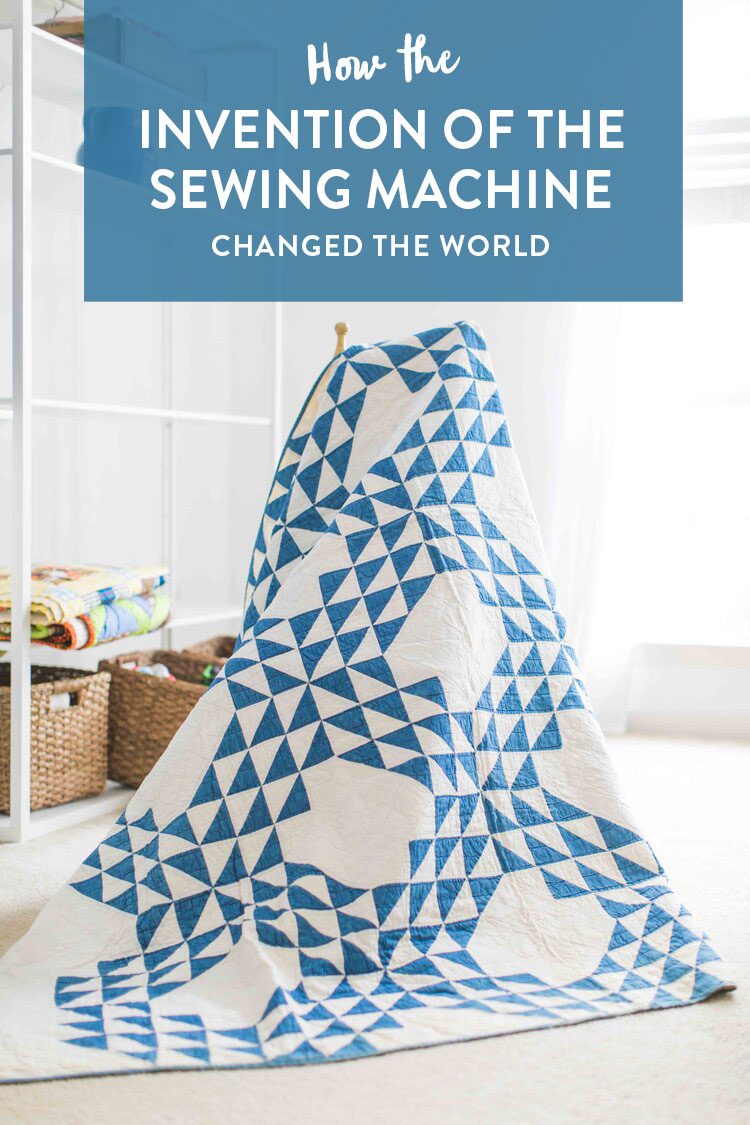 How the invention of the sewing machine changed quilting, and even the world, forever – a quick and entertaining history! suzyquilts.com #quilting