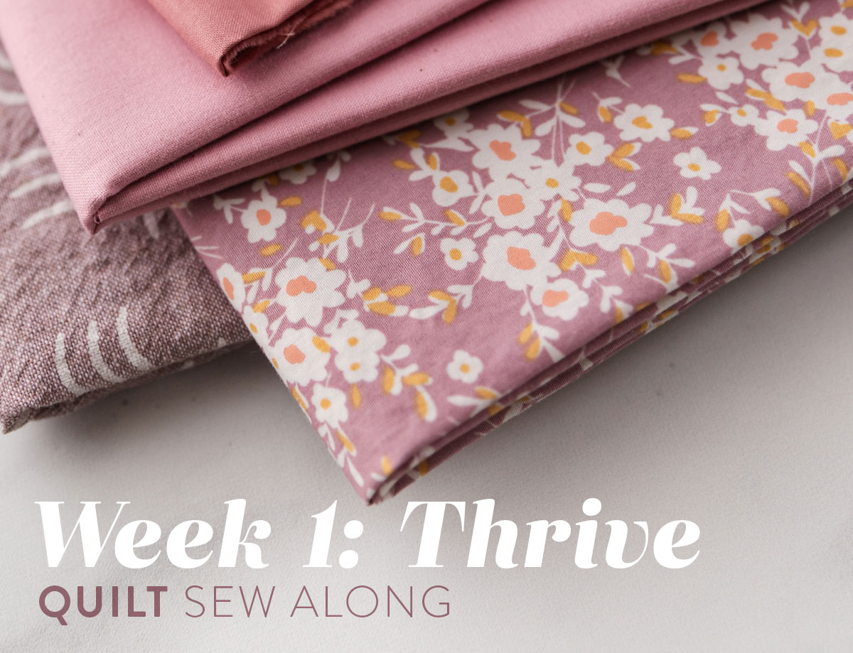 The Thrive quilt along includes lots of extra instruction over a 6 week period of time in sewing the fat quarter friendly throw-sized Thrive quilt. suzyquilts.com #quiltalong
