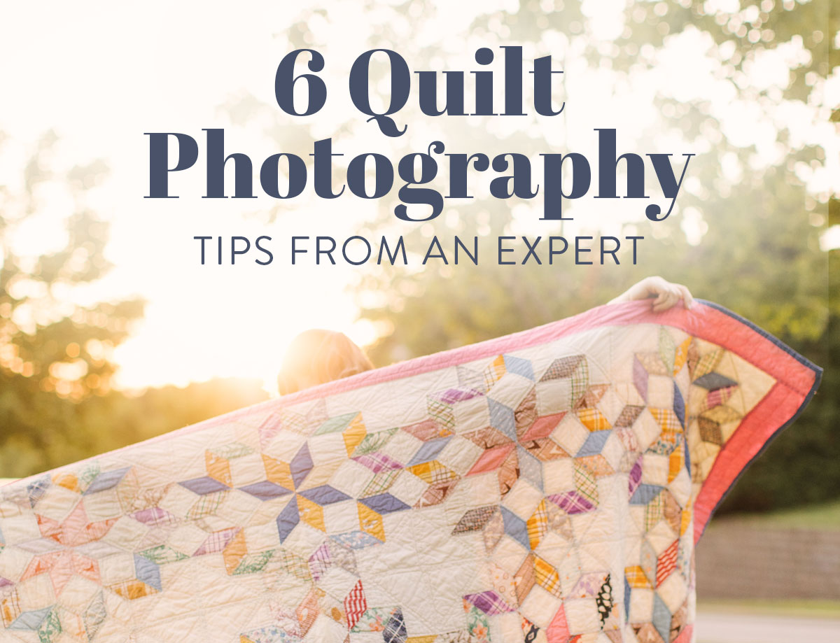 6 quilt photography tips from an expert! How to take photos of your quilts with just an iPhone! This photo is BEFORE editing suzyquilts.com #quiltphotography