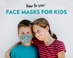 Easy Tutorial: How to Sew Face Masks for Kids